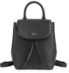 DKNY Small Leather Backpack