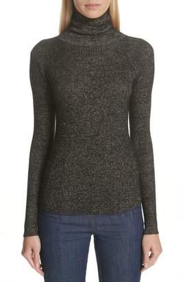 Ulla Johnson Mars Metallic Cashmere Blend Turtleneck Sweater