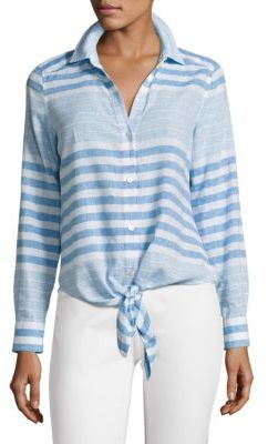 Vineyard Vines Striped Tie-Front Shirt $98 thestylecure.com