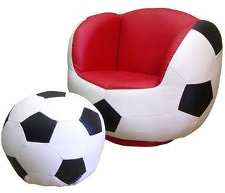 Ore International Soccer Chair and Ottoman Set