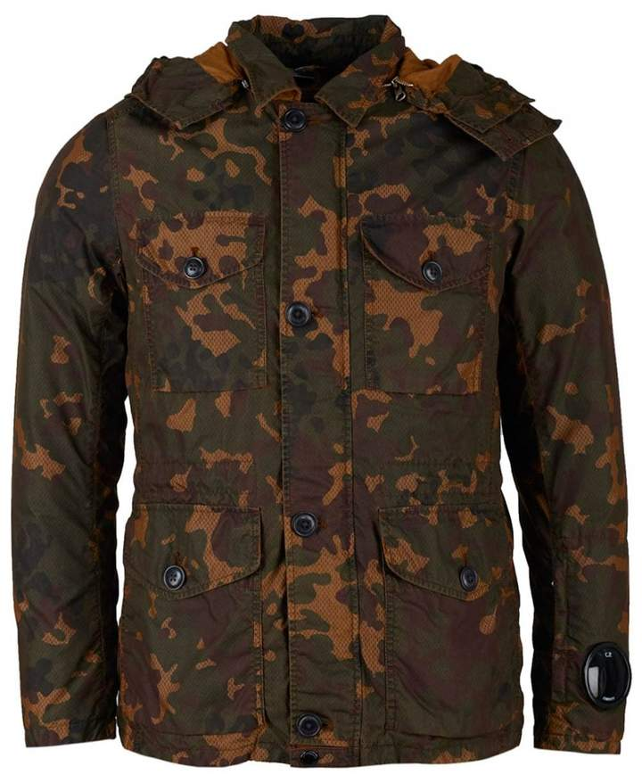 Camo Hooded Down Jacket
