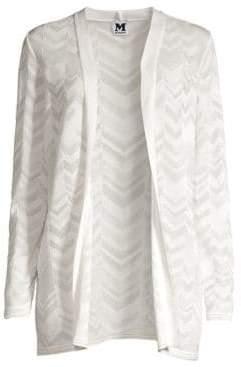 M Missoni Women's Longline Open-Front Knit Cardigan - White - Size 40 (4)