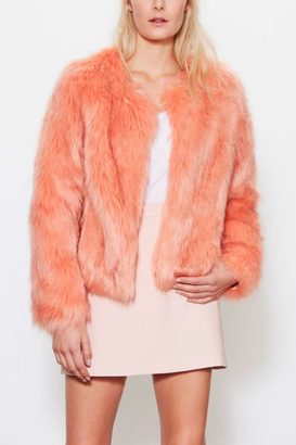 UNREAL FUR Faux Fur Dream Peach Jacket
