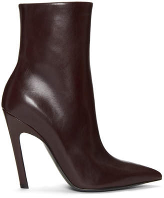 Balenciaga Brown Slash Heel Boots