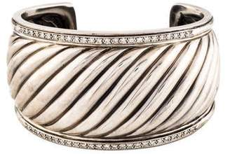 David Yurman Diamond Sculpted Cable Cuff
