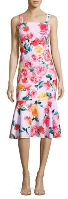Laundry by Shelli Segal Floral-Print Trumpet Dress $275 thestylecure.com