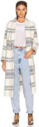 Etoile Isabel Marant Faby Coat in Ecru | FWRD