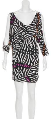 Just Cavalli Cutout Mini Dress