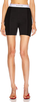 Alexander Wang Wash and Go Rib Biker Shorts in Black | FWRD