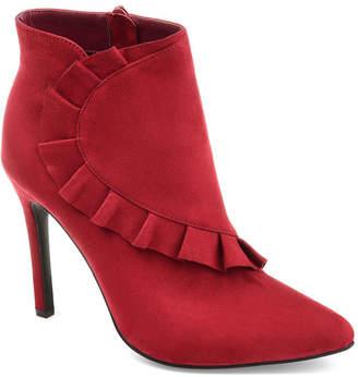 Journee Collection Womens Jc Cress Booties Stiletto Heel Zip