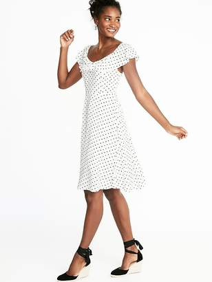 Old Navy Ruffled Sweetheart-Neck Fit & Flare Dress for Women