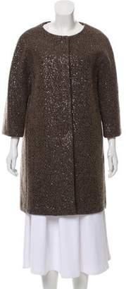 Herno Sequined Virgin Wool-Blend Coat