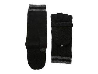 Lauren Ralph Lauren Cable Pop Top Touch Gloves