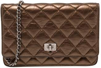 Chanel Wallet on Chain Metallic Leather Clutch Bag