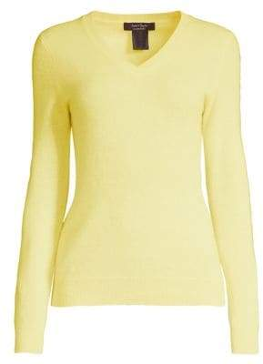 Lord & Taylor Essential V-Neck Cashmere Sweater
