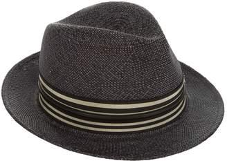 Philip Treacy Woven Trim Trilby Hat