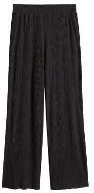 MANGO Pleated palazzo trousers