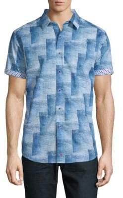 Robert Graham Cutten Print Short-Sleeve Shirt