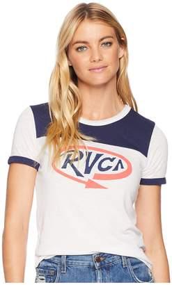 RVCA Looped Ringer T-Shirt Women's Clothing