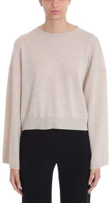 Theory Beige Cashmere Wide Sleeve Pullover