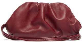 Bottega Veneta The Pouch Leather Mini Purse - Womens - Burgundy