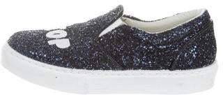 Chiara Ferragni Glitter Slip-On Sneakers