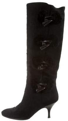 Salvatore Ferragamo Ponyhair Toggle Boots