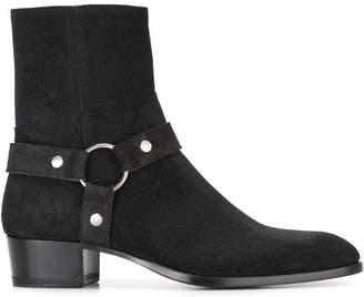 Saint Laurent Classic Wyatt 40 harness boots