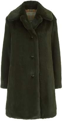 Burberry Tenbridge Faux Fur Coat
