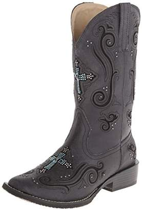 Roper Women's Crystal Cross Square Toe Boot