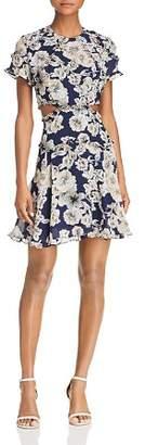 Bardot Brianna Floral Print Cutout Dress