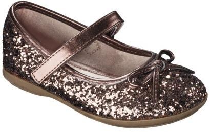 Toddler Girl's Cherokee® Jenna Ballet Flat - Bronze