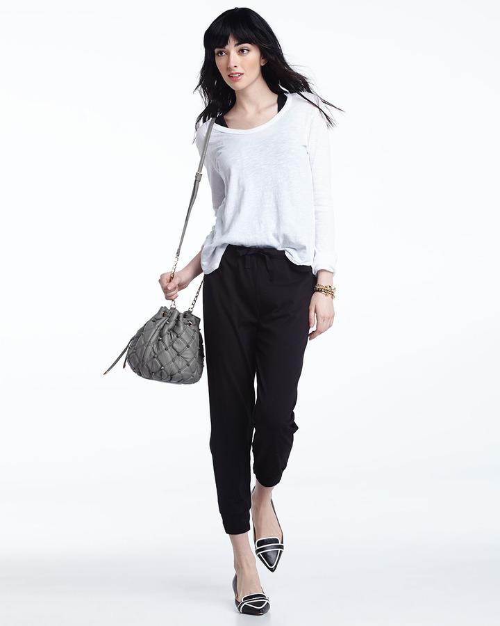 W by Wilt Solid Drawstring Sweatpants, Black