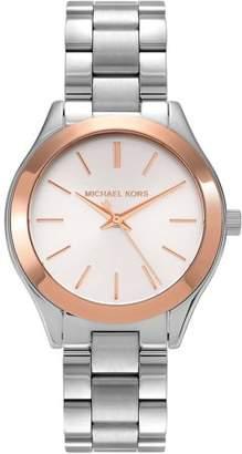 Michael Kors Women's Two-Tone Stainless Steel MK3514 Dress Watch, Link Bracelet
