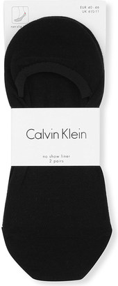 Calvin Klein Pack of two No Show Liner socks $12.50 thestylecure.com