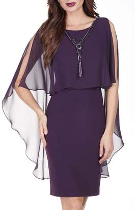 Frank Lyman Cape Shift Dress