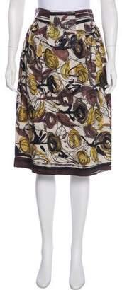 Philosophy di Alberta Ferretti Knee-Length Abstract Print Skirt