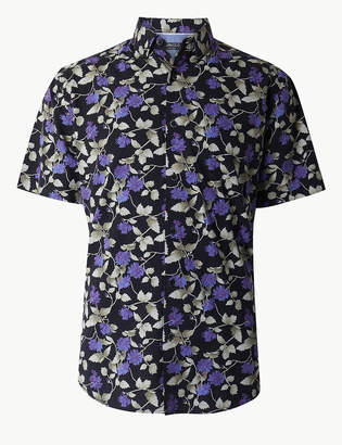 Limited Edition Cotton Rich Floral Print Shirt