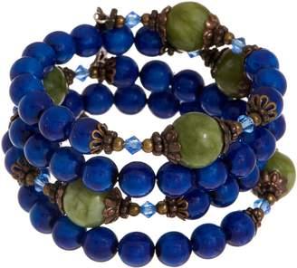 Connemara Marble Coil Rosary Bracelet