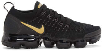 Nike Black and Gold Air VaporMax Flyknit 2