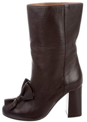 Marni Leather Bow Mid-Calf Boots