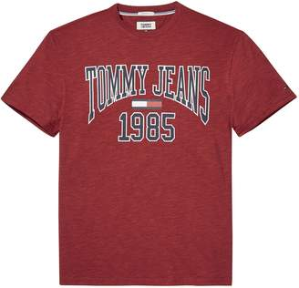 Next Mens Tommy Jeans Red Logo T-Shirt