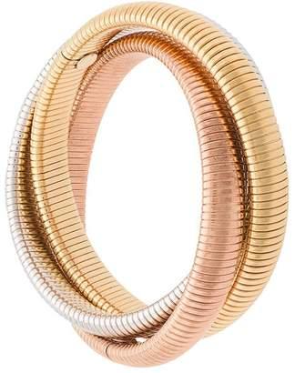 Janis Savitt set of three ribbed bangles
