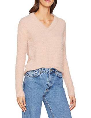 Vero Moda Women's Vmbonnie Ls V-Neck Blouse Boo Jumper, Pink Misty Rose, 8 (Size: X-Small)
