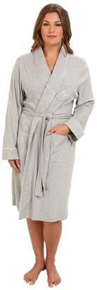 Lauren Ralph Lauren Plus Size Essentials Quilted Collar and Cuff Robe Women's Robe