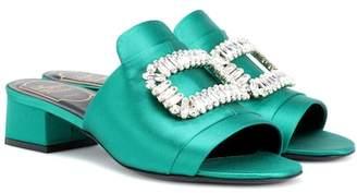 Roger Vivier New Strass embellished satin sandals