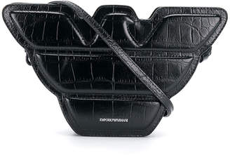 Emporio Armani logo shaped crossbody bag
