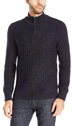 Vince Camuto Men's Mixed Yarns Mock Neck Sweater