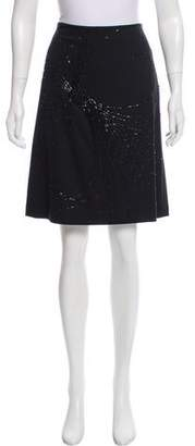 Magaschoni Silk Embellished Skirt