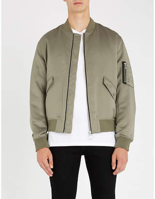 The Kooples Lining-print satin bomber jacket